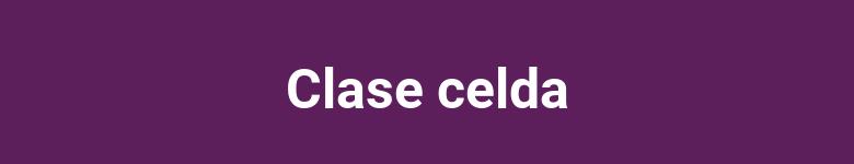 Clase celda