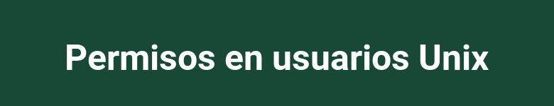 Permisos para usuarios unix