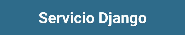 Crear servicio para Django